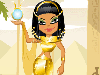 Queen Cleopatra:Cleopatra is by far one of the most ever famous queens of all times in ancient Egypt. Her story of love and death is very famous and she ruled Egypt and made it quite powerful at the time.  In the dress up game, you will have a chance to help her dress up with the typical costumes of the Egyptian.