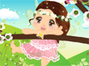 Spring Baby Fairy Dress Up: Spring is spreading all over the places and flowers bloom everywhere. This spring baby fairy likes flying out to the nature for the first time. She is so curious about everything. The blossoms, the trees, and the butterflies. Please dress her up by changing her hair styles, facial expressions, clothes and wings. Enjoy!