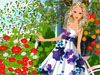Great Love for Flowers: This girl has great love for flowers. She grows lots of flowers in the garden. In her wardrobe, there are lots of floral dresses. Choose the floral dress that you like and dress her up to see how fresh and beautiful she is...