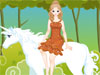 Girl with Nice Horse: A beautiful girl with her nice white horse in fantastic landscape - so wonderful! The horse is so nice in pure white hair and the girl, she wants to be in the best look to travel. Could you please help?