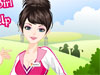 Golf Girl Dress up: This pretty girl loves sports and especially Golf. She joined Golf club since she was a little young girl. Now she's very skillful with this type of sport. Choose the look and go to play golf with her.