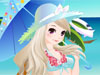 Sweet & Cool Bikini: Come to see a small store of Bikini in this nice game and play game with cannot-cuter-girl! All bikinis are so sweet, cool and elegant. Enjoy great time at beach!!
