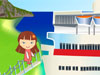 Way to Clara's Home: Clara got lost while she's in her vacation. All she remembers that when she left she has taken four vehicles: a boat, a train, an airplane and a car. Now let's help her find out the way to her house by solving the puzzles. Come on!