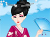 Kimono Style: Kimonos have been adopted by Japanese from China. It is the traditional garment worn amongst children, men and women. These days, many Japanese women lack the skill to put on a kimono. By chance you don't need much skills to enjoy this colorful game.