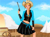 Cowgirl Style: This girl loves to dress in cowboy's style with guns, horses, camps. Today she want to show herself in this style to be well-matched with her cowboy friend. Help her to find the best outfit for this event and don't forget the important accessories: boots, earrings and a hat. Make her hair what style you like best and enjoy the game!