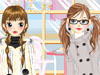 Cold Day Girls Dress Up: What is fashion in the cold winter day, girls? Yes, it's a cold day today. You will help a pretty girl dress up in cold days. Beautiful snowflakes are falling from the sky outside. Do it now and have fun!