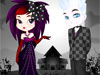 Elegant <a href='http://www.dressupgirl.net/dressup/558/Emo-Couple.html' target='_blank'>Emo</a> Bride: Exciting game of wedding fashion for emo-style brides! Achieve a <a href='http://www.dressupgirl.net/dressup/2057/Gothic-Faires.html' target='_blank'>gothic</a> style for your wedding, combining the classic emo colors, such as red, black and purple. At the end, you'll also be able to choose the groom and the dark place where the ceremony will be celebrated.
