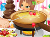 Fun Fondue Party: Its a party! Cheese, chocolate and fruits! Dip whatever you want and whatever you got into a steaming hot bowl of oil, cheese or <a href='http://www.dressupgirl.net/dressup/2532/Sweet-Valentine-Dating-Dress-Up.html' target='_blank'>chocolate</a> ! Everyone loves a fun Fondue Party!