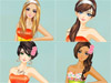 Nicole is a glamorous girl and now she feels very excited because she is invited to an exclusive <a href='http://www.dressupgirl.net/dressup/192/Party-Dress-up-Game.html' target='_blank'>party</a> where everyone must to wear orange dresses. Of course, it will be an amazing party. Nicole finds difficulty in choosing what to wear. Become her stylist and help her a hand. Pick up her wonderful wardrobe, choose a pretty orange <a href='http://www.dressupgirl.net/dressup/2617/Red-Dress-Girl.html' target='_blank'>dress</a> then dress her up. Don't forget a fancy necklace, beautiful earrings and cute shoes. Have fun.