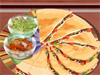 Sara is a famous chef and today she's in the kitchen again in order to teach you how to make Quesadilla – a very much well - known Spanish <a href='http://www.dressupgirl.net/category/Cooking-Games/1.html' target='_blank'>treat</a>. Follow her instructions, learn all the tips and have fun. On early completion you will be given bonus points. Good luck.