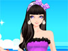 Pretty Girl At <a href='http://www.dressupgirl.net/dressup/2884/Beach-Vacation.html' target='_blank'>Beach</a>: Girls, I'm going to take a trip with my friends on a tropical island. I really need your advice to become a pretty girl. Can you help me a hand?