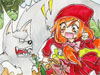 Little Red Riding Hood: Little red riding hood made her way to her grandmother's house. Help her find the clues and differences as she takes an adventure through the woods. Be careful of the big bad wolf, she is very sneaky and may come up at any second! Good luck! Find all the differences in these pictures and have fun.