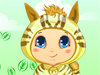 Baby <a href='http://www.dressupgirl.net/dressup/790/Cute-Animal-Clothes.html' target='_blank'>Animal</a> Halloween Costume: Wow, your younger brother is so cute and you love him so much. Tonight, you and him will participate at a Halloween party. What should your brother wear? Animal Halloween costume is perfect. There are many choices, let's decide.