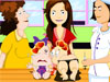 Baby <a href='http://www.dressupgirl.net/group-game/Kissing-Games-813/1.html' target='_blank'>Kissing</a> : Two super cute babies are sick. Their mother bring them to a medical center. They tries to kiss each other. Help them a hand.
