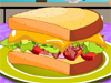 Turkey <a href='http://www.dressupgirl.net/category/Cooking-Games/1.html' target='_blank'>Sandwich</a> : Lisa's parents are in holiday and normally Lisa's mother prepares her lunch. Help Lisa preparing her lunch by making her the most delicious turkey sandwich. You can choose different bread slice then add onion, turkey meat, tomatoes, cheese and salad. Enjoy!