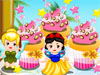 Disney Princess Cake: Girls, I want to make Disney princess cake in my birthday to surprise my friends. Well, so fun and I need your help to start. Can you  help me?