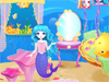 Mermaid Home Decor: Our lovely mermaid wants a new look for her home. Let's help her a hand and decorate her home.