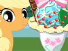 Pony Icecream: Twilight Sparkle, Applejack and Flttershy come to your ice cream shop and ordered for their special ice cream. Could you take this challenge? You could pick your favorite pony first and make an ice cream for her.