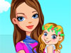 Royal Baby: This beautiful princess just had a cute baby girl. They are going out for shopping this morning, could you help the princess and her cute girl choose the most beautiful dress and accessories?
