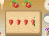 See how quickly you can make a yummy strawberry cake in this click to play kitchen game! Follow the directions and use the right tools and ingredients. Chop, stir and pour everything together as fast as you can to finish within the time limit.