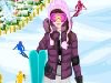 Although we're coming to the end of spring, some places are still ready for skiing. Since Sally is a huge fan of skiing, she found just the right mountain for that in this season. Can you help her get ready for this skiing adventure by doing her make up and choosing a skiing outfit for her?