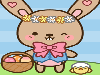 It is almost Easter time once more and in this game dress the bunny up in cute outfits, add eggs to the scenery or into the basket. You can also click on the bushes for some cute animations!