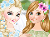 Wedding bells are about to ring out loud in Arendelle today, you know! Gorgeous queen Elsa and Jack Frost are getting married! As you can probably guess, her younger sister, lovely Anna is going to be her bridesmaid! Would you respond to the challenge of beautifying and styling up the two dazzling Frozen sisters for this dreamlike wedding? Start with the ravishing bride herself! Scan through Elsa's make-up kit and put together a superb elegant-polished, refined make-up look for her. Next, dress up the astonishing bride to be, as well! Which one of her stunning bridal gowns, all inspired from her already so famous, jaw-dropping sheer blue Frozen dress, best compliments her beauty and perfect silhouette? How about her snow-white haute couture one-shoulder gown or maybe you prefer one of her gorgeous shimmery, shape-enhancing ones or a stunning, elegant satin mermaid type of wedding dress instead? Style up her gorgeous, long, long light colored hair, as well, and remember to add a final touch of glitter to her look with the help of some resplendent diamond jewels. Have you ever enjoyed other Frozen Elsa and Anna games more inspiring than this one here? Next, enjoy styling up pretty princess Anna, too, getting her a diaphanous elegant look for her elder sister's wedding!
