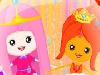 You are with two beautiful babies today! Baby Bubble Gum and baby Flame from Adventure time! They love adventure just like their mothers but they have to stay at home today. Can you take care of them? Choose a baby and start with bathing her. Do facial skin care and dress her up in the end!