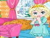 It looks like that Elsa had a taste for ice and snow even when she was little! Help her decorate her bedroom - she even has tables and chairs for guests.
