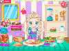 Baby Elsa is in a rush to get to school, so be aware of the timer when you play this game. Make sure she eats a healthy breakfast. You have prepared some sunny side up eggs with bacon and salad with tomatoes, cucumbers and broccoli. Cut it all into tiny pieces so she can eat easier. Take all the fruits she has and put them in the blender to make a delicious fresh juice with grapes, kiwi and strawberries. She can also eat some bread and cheese, a glass of water and you have also prepared some biscuits. But she is so full already, that she cannot possibly eat them anymore. Maybe she can take them to school. Pick a Bento Box and make sure you place each type of biscuit in such way that you can see everything and it's all neat. Good luck playing Baby Bento Box Rush!