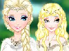 Elsa is a queen with magical ice powers, which qualified her to be asked by the Elves community to join their realm and be their queen as well. All she needs now is a new look. Start with a flawless make-up and apply foundation, define her eyebrows, apply eye shadow, mascara, contact lenses, blush and lipstick. She needs to grow out her hair and then style it straight, curly or in two tails. Long hair just looks better with those long elf ears. Then you can dress her up in a long white gown with sparkles, a cape and a big gem holding it, a pastel green gown with very long sleeves and puff on the shoulders, a blue gown with yellow embroidery or a red one with golden accessories. Complete her look with precious jewelry and a tiara. Have a wonderful time playing Elf Queen Elsa!
