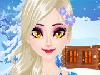 Christmas is coming and this is the time to spread love and kindness to people who need them. Our beautiful Frozen princess Elsa wants to organize a charity night before Christmas to help people and feel the Christmas spirit. Let's help this kindhearted princess get ready for the night. Choose a dreamy dress for her and do a dramatic make up.