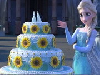 Elsa multi-tiered cake. You put the pieces together to get a perfect picture.