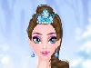 Ice Princess is invited to a ball which is just among princesses. She needs to get ready for this exclusive ball because it's a really big deal! Help her do the make up first and make her skin glow. Then you should choose one of those dreamy, blue dresses. Complete the look with crystal accessories.