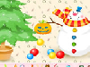 Click and drag the decorations to make the christmas tree as beautiful as possible.