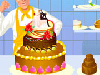 Do you know why all the wedding cakes look amazing? Because it takes many hours to prepare a wedding cake! The pastry chef Jacques is asking your help on decorating one of these cakes... Show him your talent and do your best to wish the new couple a happy life.