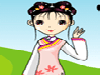 Chinese Princess: A cartoon Chinese princess is so cute that you can help dress up beautifully.