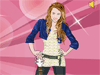 Miley Cyrus Dress up: Miley Cyrus has been very successful as an actor and a singer.Help Miley Cyrus, Hannah Montana,the famous rock star whoever you know her as,dress up to let the rockstar shine!I know you girls will love doing that!