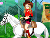 Horse Riding Girl: This lovely  girl wants to have a horseback ride on the fantastic landscape. For her, riding horse is an entertainment and she does love her horse. Dress her with the typical country western style so that she's comfortable during her trip. Use western style accessories, combining boots and cowboy hats.