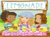 Help Dolly Hobbie and her friends run their lemonade stand by completing 3 levels of fun. Earn a coloring page for each level you complete. Get points and complete tasks to unlock items to decorate your coloring pages. Use your mouse to play. Enjoy!