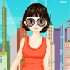 City Beautiful Girl: There are so beautiful gorgeous dresses for city girls. Could you help this little girl find a perfect position in high-rise buildings?