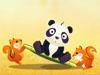 Panda Funny Jump