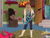 See Hannah Montana's intended costume and then dress her up to match. To dress Miley, simply find an item in the bedroom or closet and click on it to pick it up. Drag the item onto Miley (seen on the right of the screen) Release the mouse over Miley to se