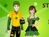 St Patrick's Day Dress up: <a href='http://www.bowbie.com/play_St-Patricks-Day-2011.html' target='_blank'>St Patrick </a>is the patron saint of Ireland. On 17th March St.Patrick's day is celebrated to remember him and what he did. The famous symbols are green and shamrock. The idea is from these symbol. Let's come to choose the best clothes for this couple St Patrick' Day. Happy St Patrick's Day!