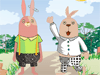 Usavich Rabbits: You can design your wanted clothes and dress the Usavich rabbits up,and make them to be the coolest rabbits.