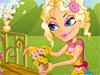 Girl in Flowers Garden