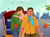 Kissing In Rickshaw