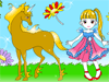 Baby and Horse Coloring